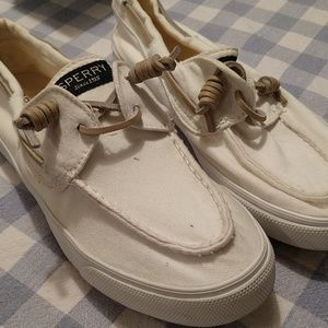 Sperry Top-Sider off white canvas size 8